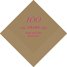 100th Anniversary Napkins