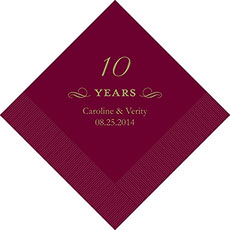10th Anniversary Napkins
