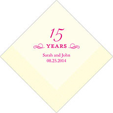 15th Anniversary Napkins