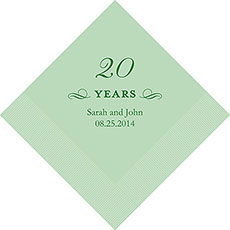 20th Anniversary Napkins
