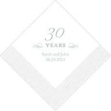 30th Anniversary Napkins