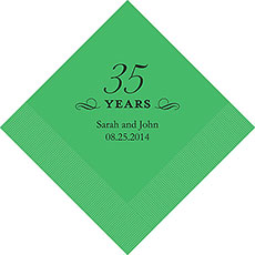35th Anniversary Napkins
