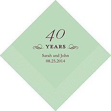 40th Anniversary Napkins