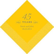 45th Anniversary Napkins