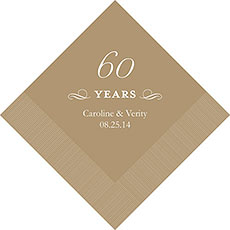 60th Anniversary Napkins