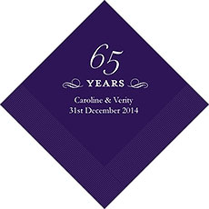 65th Anniversary Napkins