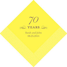 70th Anniversary Napkins