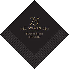 75th Anniversary Napkins