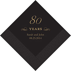 80th Anniversary Napkins