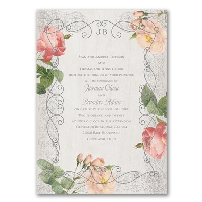 Invitations with Roses